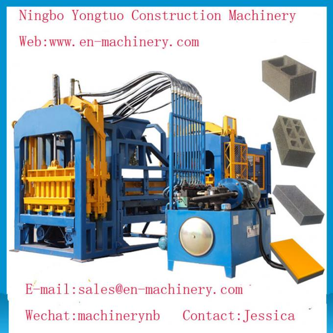 Economical PLC Control System automatic 4-15 Cement Concrete Block Making Machine