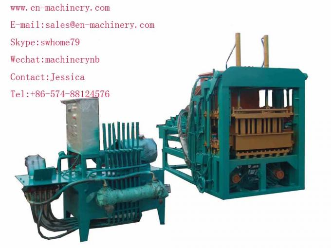 China hollow cement block making machine 4-15 Semi Auto Brick Making Machine