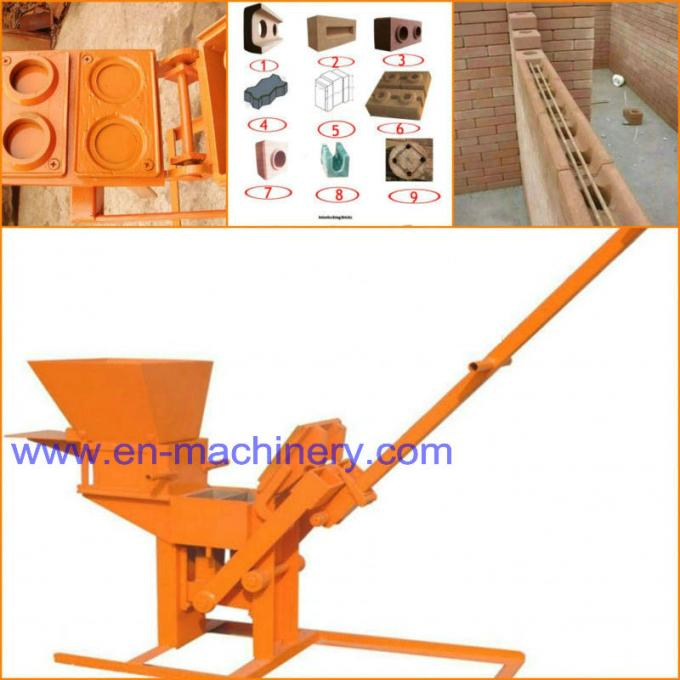 Clay Block Machine 2-40 Moulds Manual Brick Making Machinery for sale Machine