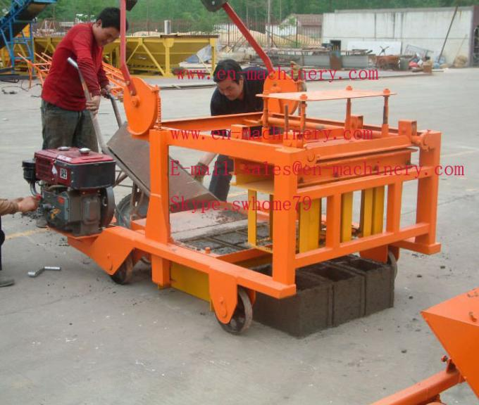 Mobile Diesel Concrete Block Making Machine 4-45 no Electric Concrete Brick Making Machine