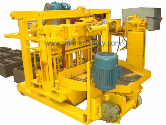 Machine For Concrete Block 40-3 Movable Hollow Block Making Equipment From China