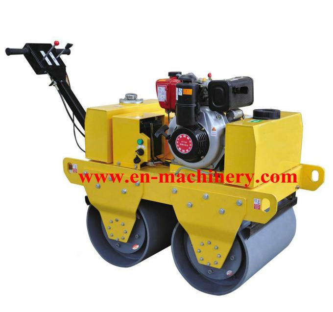 Small Road Roller Multifunctional 600mm Exciting force 25kN Steel Structure Steel Building