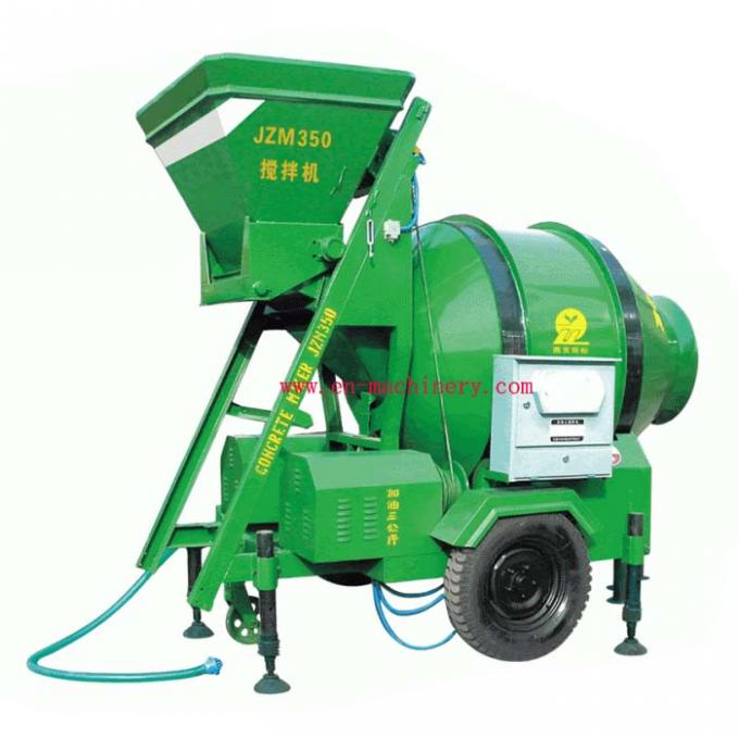 JZC350 Small Chinese Portable Mobile Type Concrete Mixer With Pump