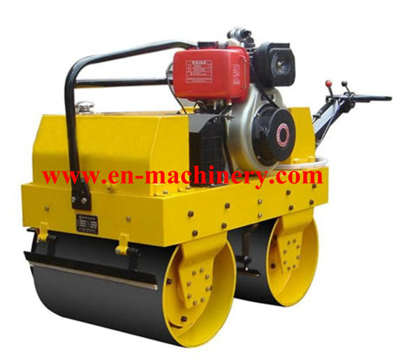 Walk Behind Construction Machinery Single Drum Road Roller Of Concrete Tools