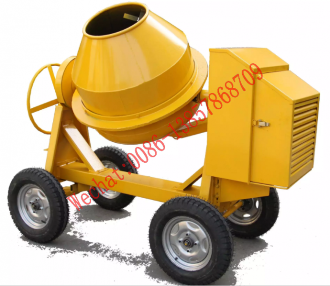Mobile Concrete Mixer Machine 350L Small Gasoline Diesel Seft-Load Concrete Mixer