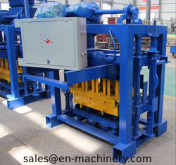 China Brick Making Machine Small Cement Manual Hollow Block Making Machine With Mixer 4-40 supplier