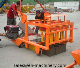 China Mobile Diesel Concrete Block Making Machine 4-45 no Electric Concrete Brick Making Machine supplier
