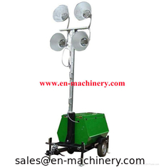 China Vehicle-mounted Portable Outdoor Light Tower,handbrake mobile lighting tower supplier