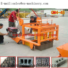 China Cheapest Hollow Cement Block Making Machine 4-45 Small Concrete Brick Making Machine supplier