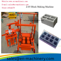 China Portable Brick Making Machine Block Forming Machine with Moulds Movable 2-45 new type supplier