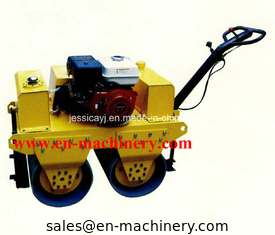 China Walk Behind Double Drum Hydraulic Vibratory Road Roller of Construction Machinery supplier