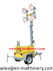 China Mobile Light Tower Generator Hand Elevated Solar Type Lighting Tower supplier