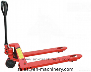 China Warehouse Handling Equipment with Hand Pallet Trucks Electric Forklift Crown Hand Pallet supplier