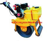 China Walk Behind Construction Machinery Single Drum Road Roller Of Concrete Tools factory