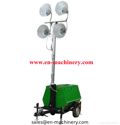 China Vehicle-mounted Portable Outdoor Light Tower,handbrake mobile lighting tower distributor