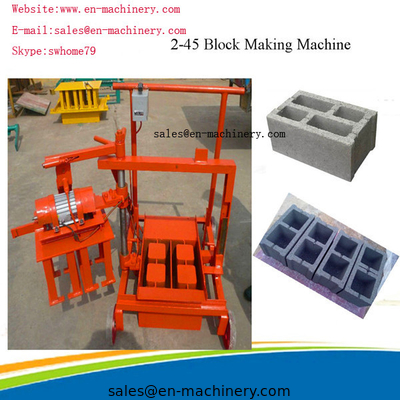 China Portable Brick Making Machine Block Forming Machine with Moulds Movable 2-45 new type distributor