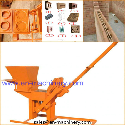 China Manual Clay Cement Brick Making Machine and 1-40 Red Clay Brick Making Machine distributor