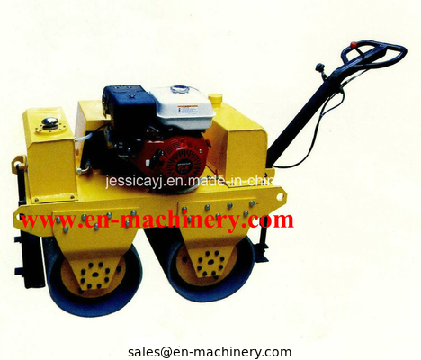 China Walk Behind Double Drum Hydraulic Vibratory Road Roller of Construction Machinery distributor