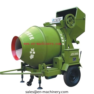 China Concrete mixer with Hydraulic type diesel engine/electric motor in stock JZC350B JZC350A distributor