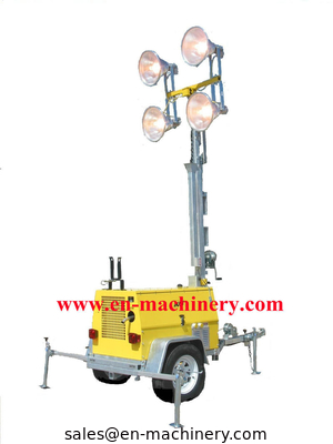 China Mobile Light Tower Generator Hand Elevated Solar Type Lighting Tower distributor