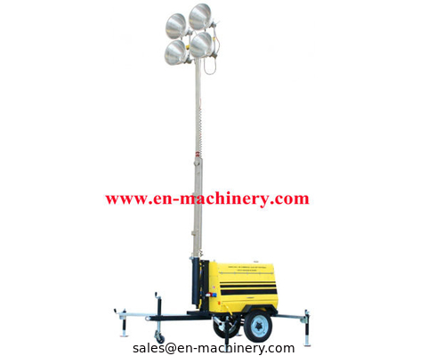 China Light Tower Waterproof Outddoor portable diesel Portable Led Light distributor