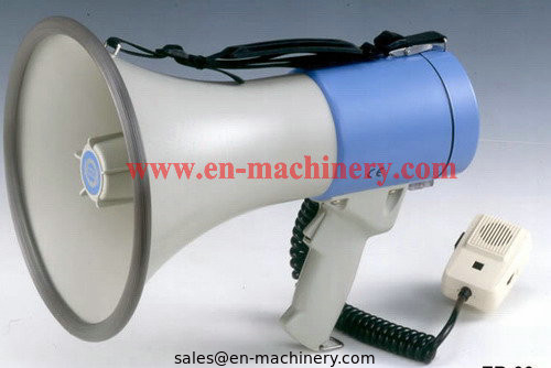 China 12V Megaphone with Microphone Horn Custom Logo Printed Promotional Silicone Megaphone distributor